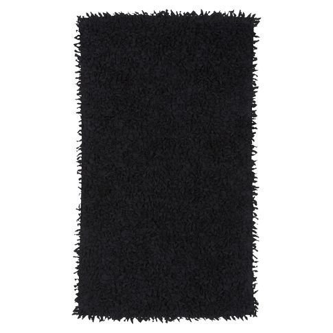 Shaggy Tee Mat, Black