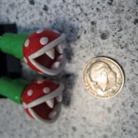 Super Mario Piranha Plant in Warp Tube Dangle Earrings