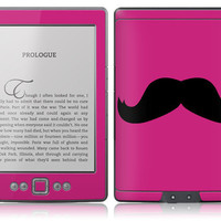 Amazon New Kindle Skin Cover - Magenta Mustache
