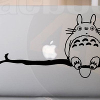 Totoro on Branch MackBook Decal sticker 11&#x27;&#x27; 13&#x27;&#x27; 15&#x27;&#x27; 17&#x27;&#x27; Ipad