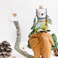 Little prince owl, soft toy by Wassupbrothers