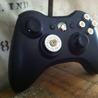 Xbox 9mm Shotgun Shell bullet button Controller Video Game gun nickel shells handmade handcrafted video games call of duty gears of war