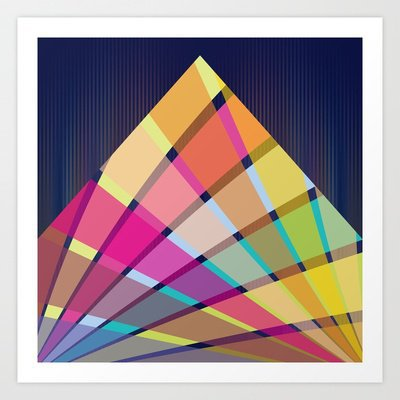 Triangle #2 Art Print by Ornaart | Society6