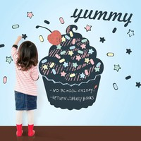 Cupcake Chalkboard Decal - Wallcandy Arts