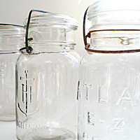Canning Jars Clear Glass Set Fruit Jars
