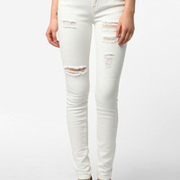 BDG Cigarette High-Rise Jean - Destroyed White