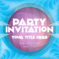Great Party Invitation - Purple Card Design - Printable File