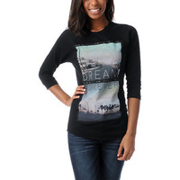 Glamour Kills Dream Forever Black Baseball Tee Shirt at Zumiez : PDP