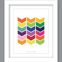 Sale 25% Off - Print Chevron Rainbow (8X10)