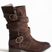 Harley Buckle Boots - $67.00 : ThreadSence.com, Free-spirited fashion for the indie-inspired lifestyle
