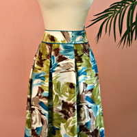 Talbots Short Silk Tropical Colored  Floral Skirt