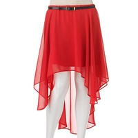 HeartSoul Hi-Low Chiffon Skirt