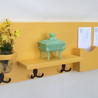 Mail Holder - Coat Hooks - Key Hooks - Jar Vase - Organizer - Coat Rack - Wood