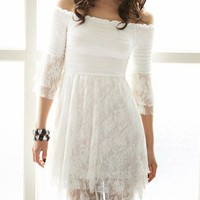 Beachy Dream Lace Tunic Dress Summer Boho Party / Sundress / Wedding 5-C4 S
