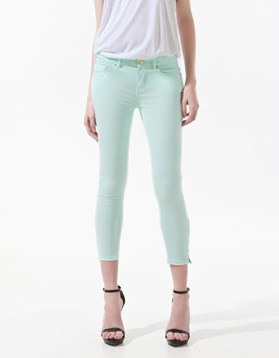 SKINNY TROUSERS WITH ZIP AT HEM - Last sizes - Woman - ZARA United States