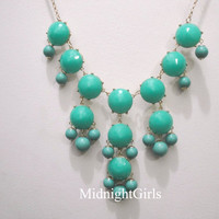 Bubble Necklace, Bubble Statement Necklace, Turquoise Bubble Necklace, J Crew Inspired, Turquoise, Navy, Complimentary Shipping