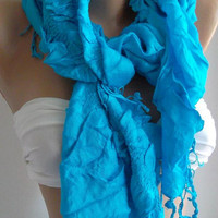 Blue / Elegance - Shawl / Scarf.......Super soft....