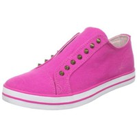 UES Women`s Barow Laceless Studded Sneaker, Hot Pink, 7.5 M US