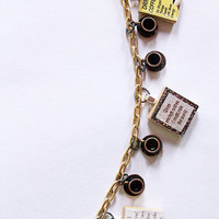 quirky coffee lovers charm bracelet