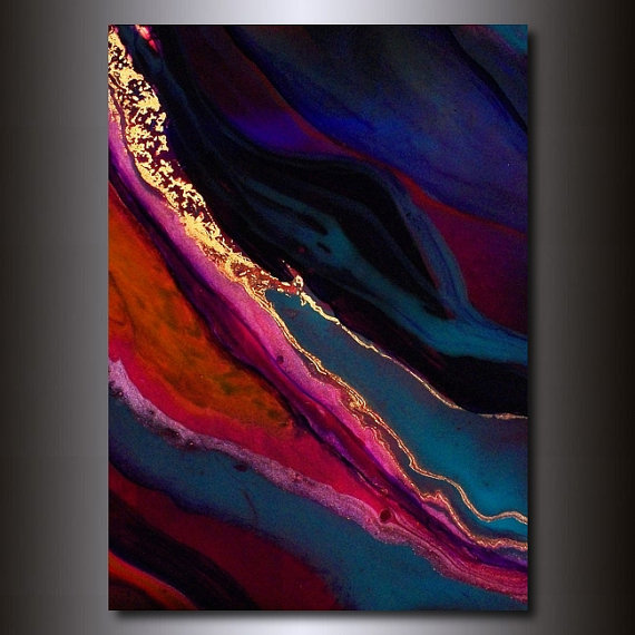 5x7 Print: Jewel Tone Abstract