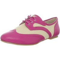 Wanted Shoes Women`s Jigsaw Oxford,Fuschia,7.5 M US