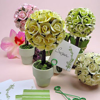 Mini Rose Topiary, Wedding Paper Topiaries, Party Decorations