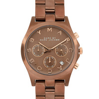 Marc By Marc Jacobs Espresso Chronograph Bracelet Watch at asos.com