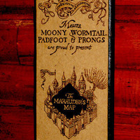 Harry Potter art - Marauder&#x27;s Map woodburned home decoration