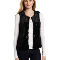 AK Anne Klein Women`s Faux Fur Vest