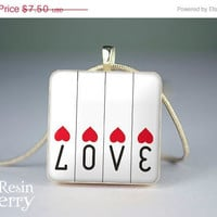 ON SALE: scrabble tile pendant,jewelry pendants,word love resin pendants,art photo pendant- W0166SI