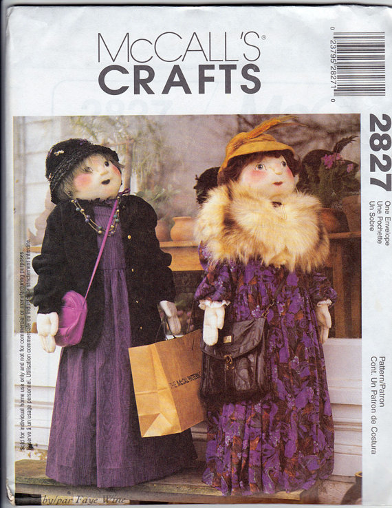 Pattern - Shopper Doll, 4 foot, McCall&#x27;s Crafts 2827
