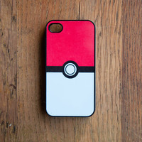 Pokeball iPhone 4 Case New iPhone 4 & iPhone 4s Pokemon Cute Kawaii