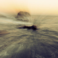 Fine Art Photo Print - Ocean Nautical Sunset Surreal Beauty Landscape Blue Purple Pink Peach - Home Decor Wall Art 8 x 10