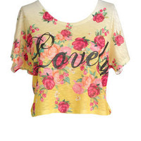 Floral Lovely Short-Sleeve