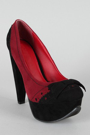 Calida-06 Two Tone Perforated Platform Pump