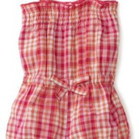 Carters Baby-Girls Infant Plaid Romper, Fuschia Purple, 24 Months