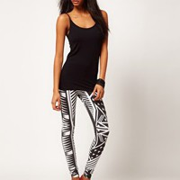 ASOS Legging in Monochrome Aztec Print at asos.com