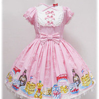 Angelic Pretty Online Shop - Dresses - Honey Cake Dress(Pink/Pink)