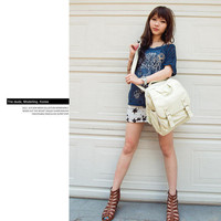 YESSTYLE: Fashion Lady- Faux-Leather Buckled Backpack (Beige - One Size) - Free International Shipping on orders over $150