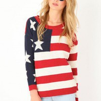 Missguided - Ferera American Flag Jumper