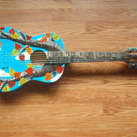 32 AUTUMN ACOUSTIC GUITAR by mozartbymoi on Etsy