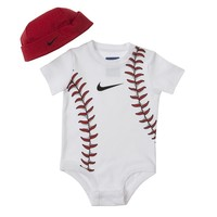 Nike Baseball Creeper & Hat Set - Baby