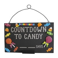 Halloween ''Countdown to Candy'' Chalkboard Wall Decor
