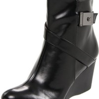 Calvin Klein Women`s Gianna Smooth Ankle Boot,Black,9 M US