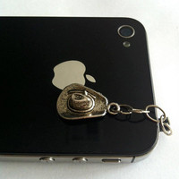 Hand-Assembled Custom Earphone Jack Plug Charm- Cowboy Hat