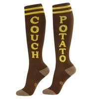 Couch Potato Unisex Athletic Socks - Ships 10/2