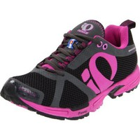 Pearl iZUMi Women`s Peak II Running Shoe,Black/Electric Purple,10.5 B US