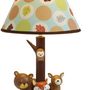 Carter`s Forest Friends Lamp Base And Shade, Tan/Choc, 5.5 X 12&amp;quot;