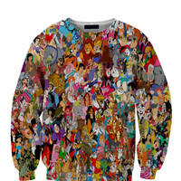 Disney Characters 1 All Over Custom Sublimated sweatshirt Unisex Women and Men