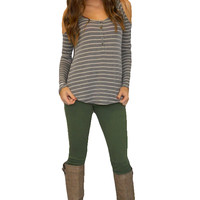 Kelly Skinny Jeans (Army Green) - Girly Girl Boutique